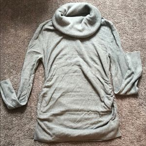 Maternity loose turtle neck sweater
